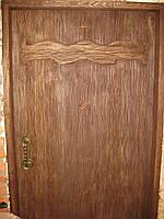 Двери под старину простые для мазанки.