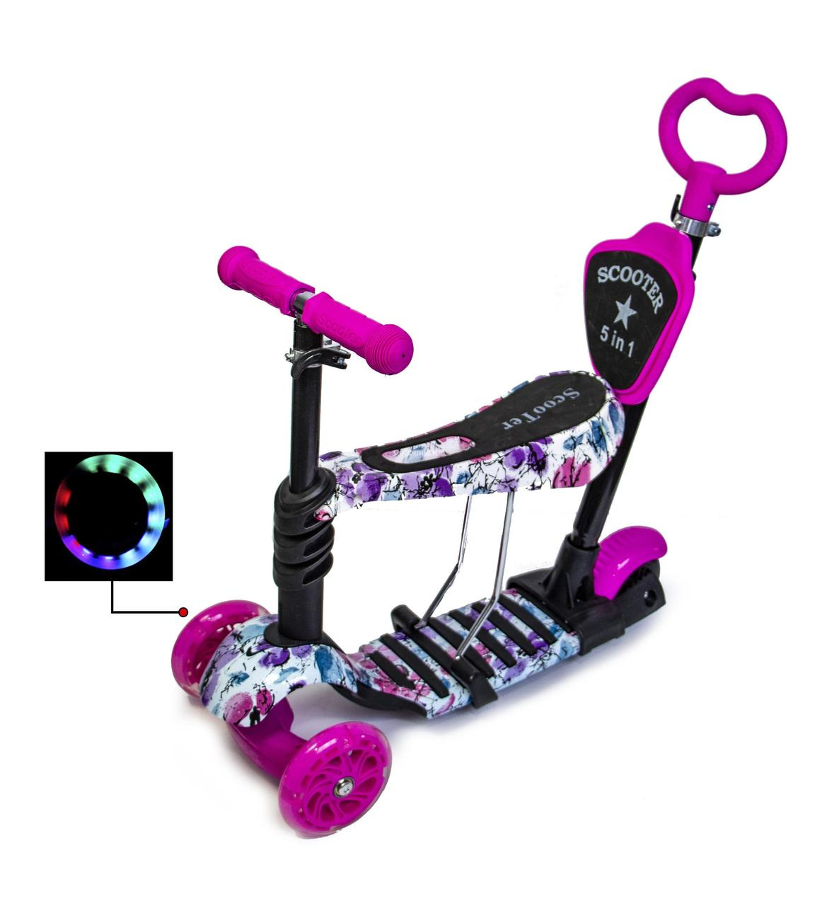 """Самокат Scooter 5in1 """"Маки"""""""