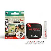 Беруши для мотоциклистов, байкеров Alpine Hearing Protection MotoSafe Pro + спрей