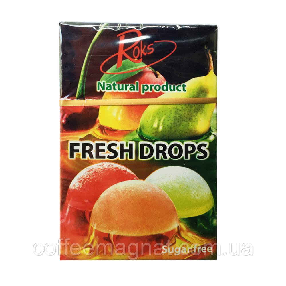 """Карамельні льодяники без цукру """"Roks Fresh Drops"""" в асортименті 1 уп 30 г"""