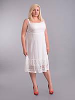 Сарафан белый короткий с прошвой на юбке,  на 54-56 размеры