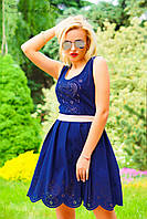 Платье 0907 / синий