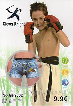 Детские подростковые боксеры хлопок с бамбуком Clever Knight, 6-15 лет, 9002