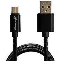 Кабель Grand-X USB-USB Type-C, 1м Black (MC-01B)