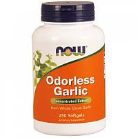 Активное долголетие NOW Odorless Garlic (250 капс)