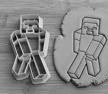 Формочка-вырубка для пряника + штамп НАбор Майнкрафт - Персонаж №1