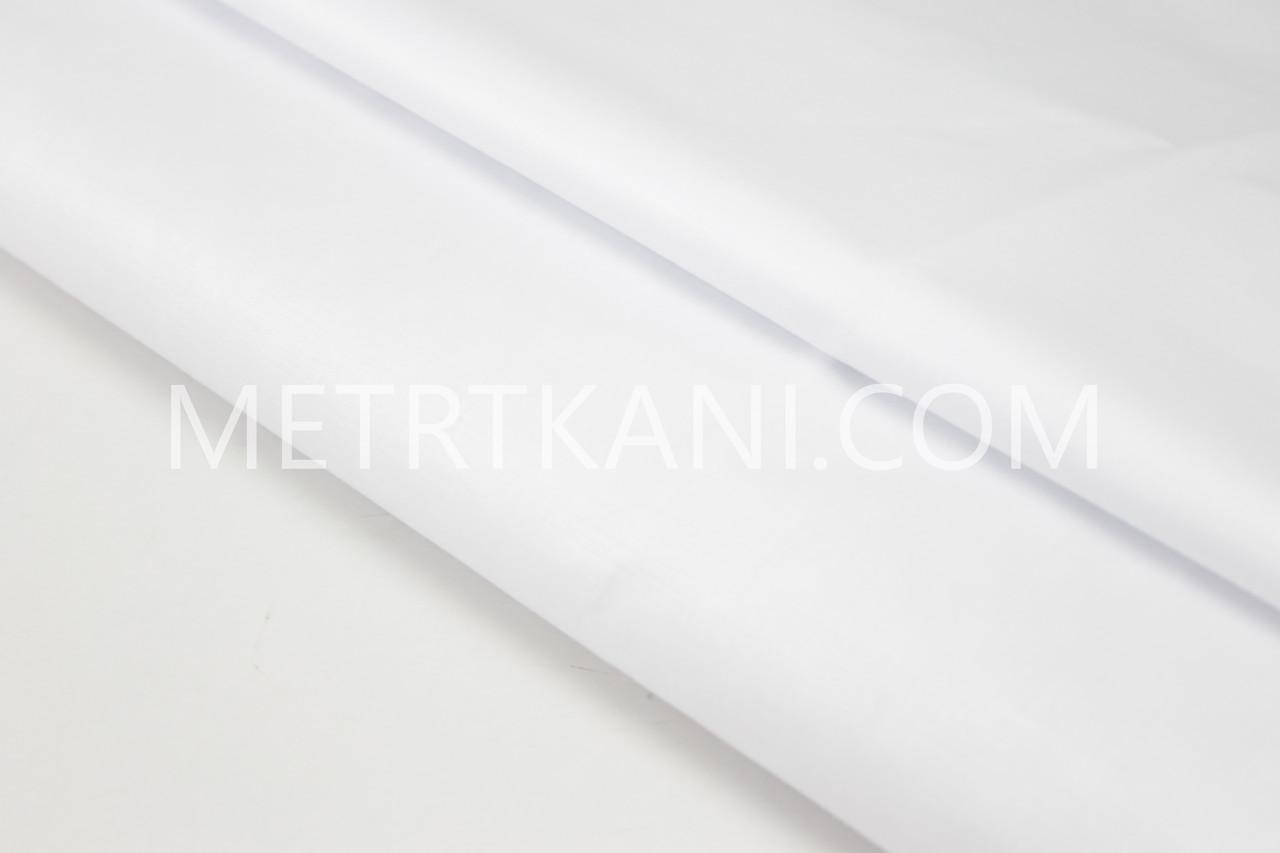 Сатин однотонный  белого цвета № 160-209 с