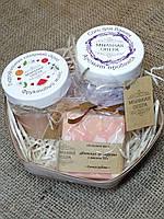 Подарочный набор средств для ванны. Гидрофильный скраб, соль для ванны, натуральное мыло с нуля! Ручная работа