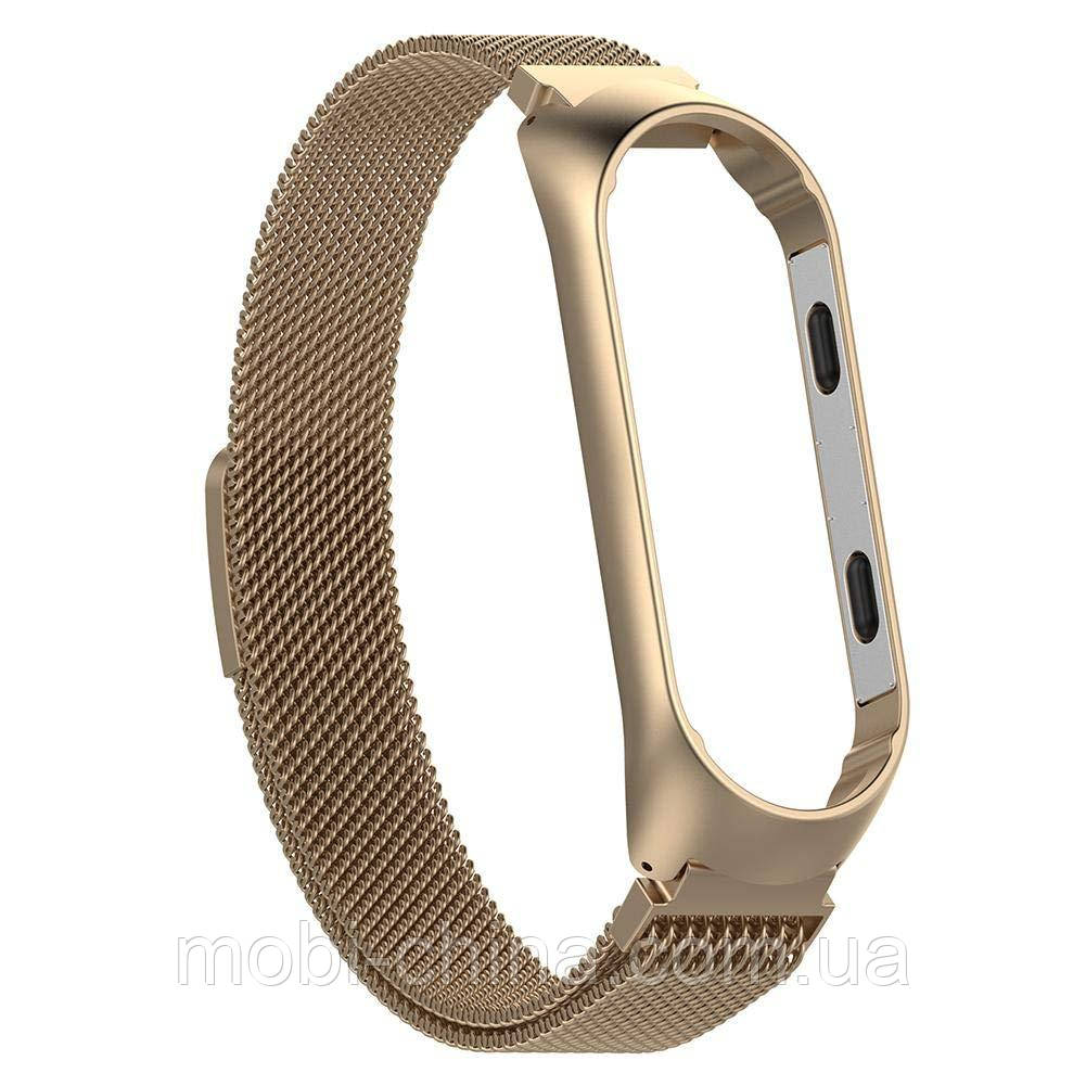 Ремінець Gasta Milanese Magnetic V2+ for Xiaomi Mi Band 3 silver