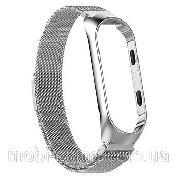 Ремінець Gasta Milanese Magnetic V2+ for Xiaomi Mi Band 3 silver, фото 2