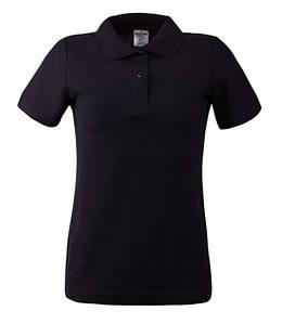 Женская футболка поло 2XL, KBL Чёрный