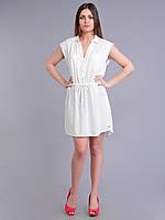 Платье-туника белая, в размерах (44-50 размеры)