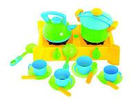Плита з посудом, 17предм. 04-414