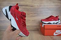 Кроссовки женские Nike М2K Tekno красные ТОП реплика