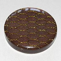"""Магнит-подхват для штор и тюлей на ленте """"Таблетка"""" (шоколад с золотой сеткой)"""