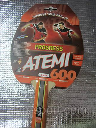 Ракетка для настольного тенниса Atemi 600, фото 2