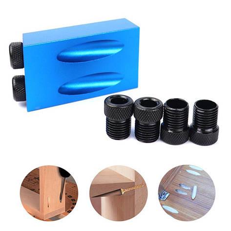 Мебельный кондуктор для сверления отверстий под косой шуруп под углом, фото 2