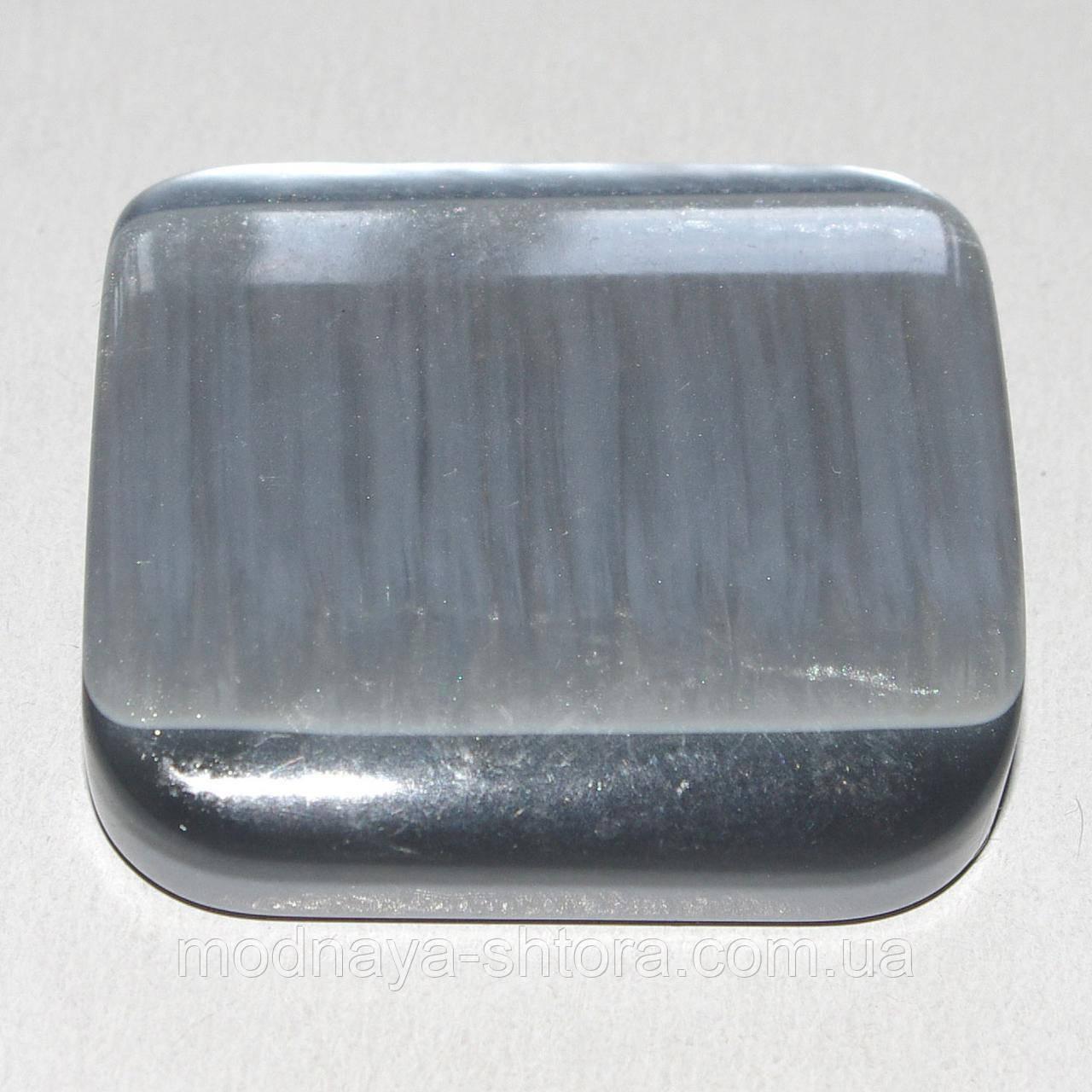 """Магніт-підхоплення для штор та тюлей на стрічці """"Квадрат"""" (сірий перламутр)"""