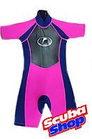 Гидрокостюм детский Konfidens Girl для плавания (розовый)