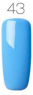 Гель-лак для ногтей маникюра 7мл Rosalind, шеллак, голубой 43, фото 2