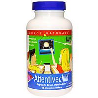 Комплекс для поддержания внимания у детей Source Naturals Attentive Child (60 таблеток)