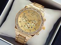 Женские наручные часы Michael Kors c рифленым браслетом, золото, хронографы, дата, фото 1