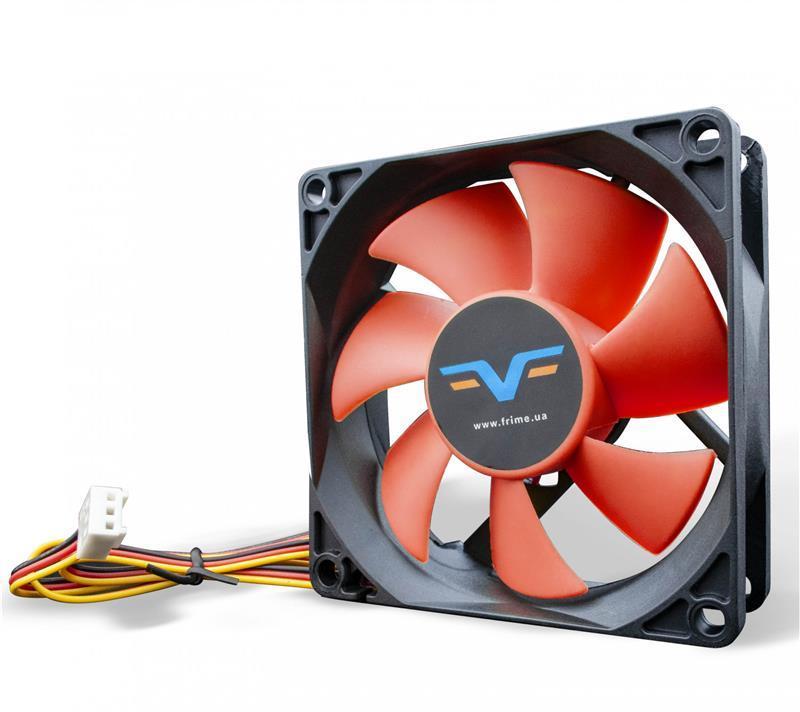 Вентилятор Frime (FRF80HB3) 80x80x25мм, 3Pin, Black/Red