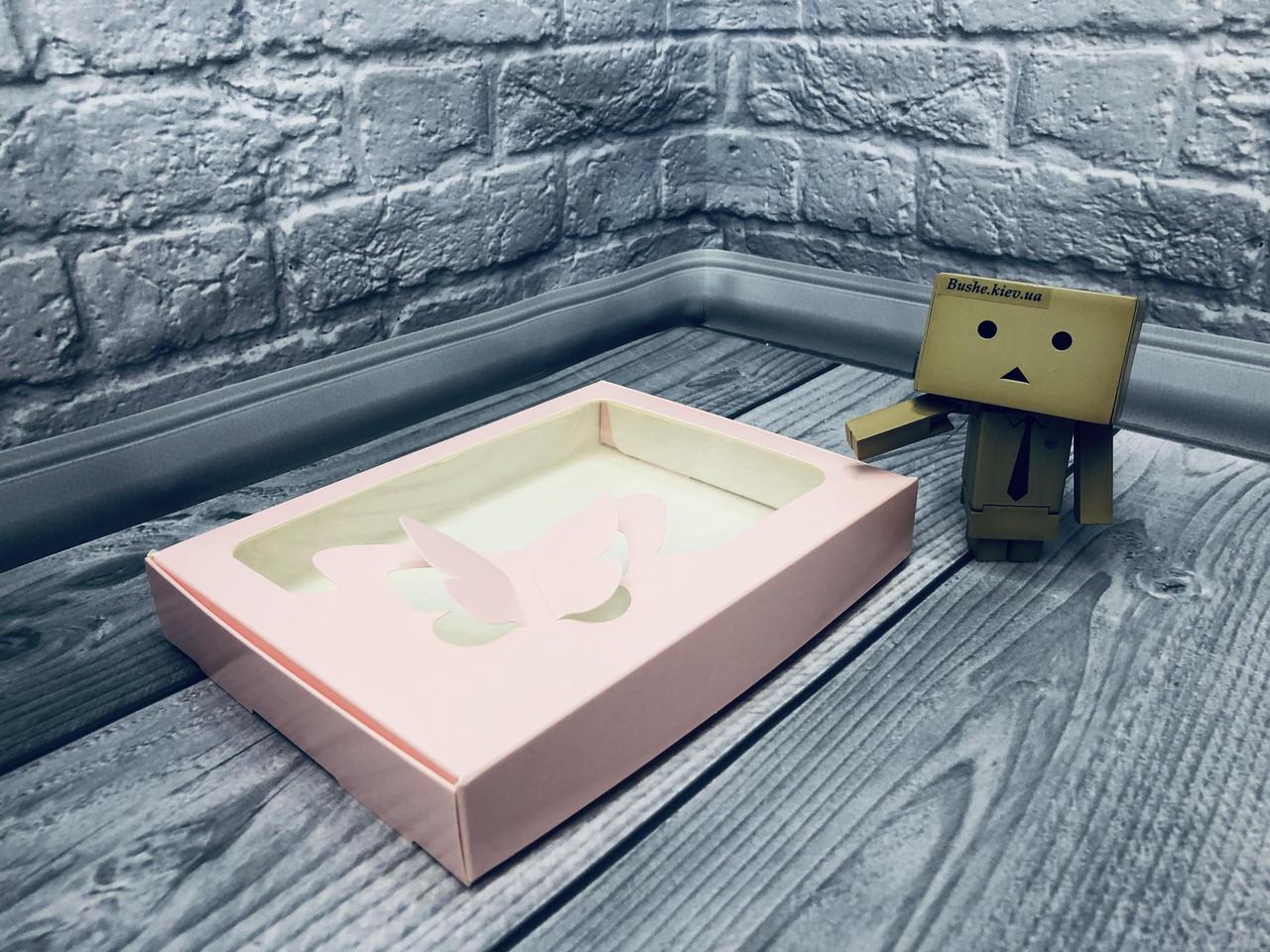 Коробка для пряников / 150х200х30 мм / печать-Пудр / окно-Бабочка / лк