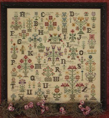 Схема для вишивки Rosewood Manor Language of the Flowers / Мова квітів