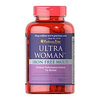 Витамины для женщин Puritan's Pride Ultra Woman Iron Free Multi (90 капс) пуритан прайд ультра вумен айрон фри