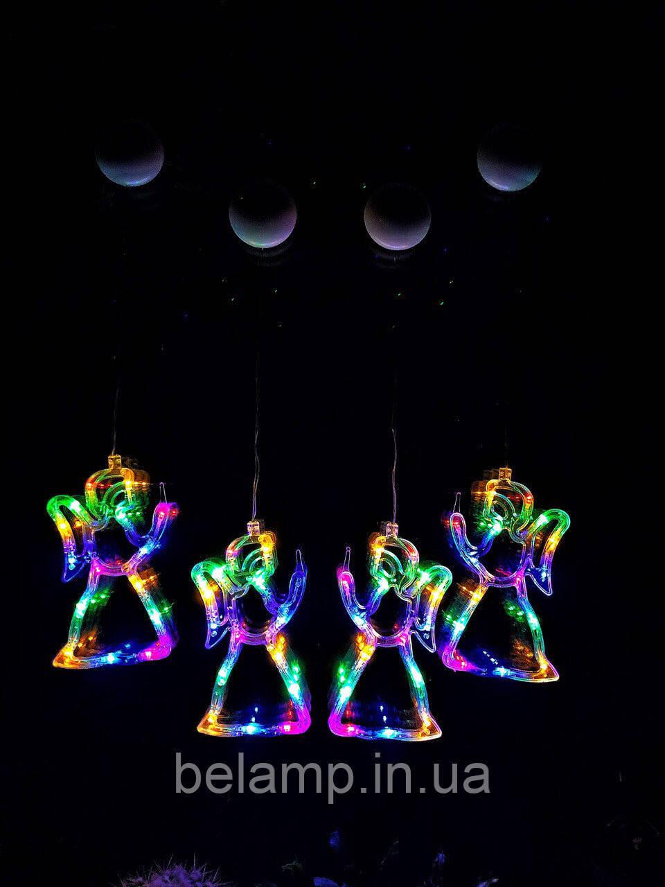 """Новогоднее подвесное гирлянда-украшение в виде ангела """"Разноцветный ангел"""". Цена за 1 ангела"""