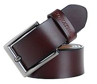 Кожаный мужской ремень Cowather CF001 - Coffee