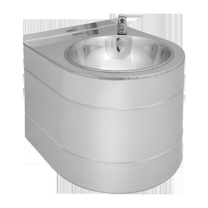 Питьевой фонтан нержавеющий подвесной  с нажимной арматурой