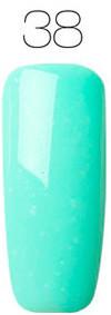 Гель-лак для ногтей маникюра 7мл Rosalind, шеллак, светло-бирюзовый 38