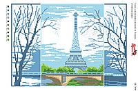 Схема на канве  А 3    БК 3006 Эфелева башня