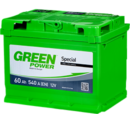 Автомобильный аккумулятор Green Power 6СТ-60