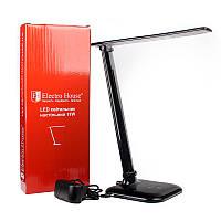 LED настольная лампа 11W черная 3 уровня яркости ElectroHouse