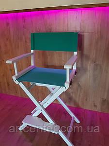 Стілець визажный складаний, стілець для візажиста, стілець майстра складаний м'ятного кольору