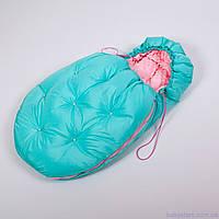 Конверт мешок для новорожденного 45*85см зимний, Умка Нежно мятный