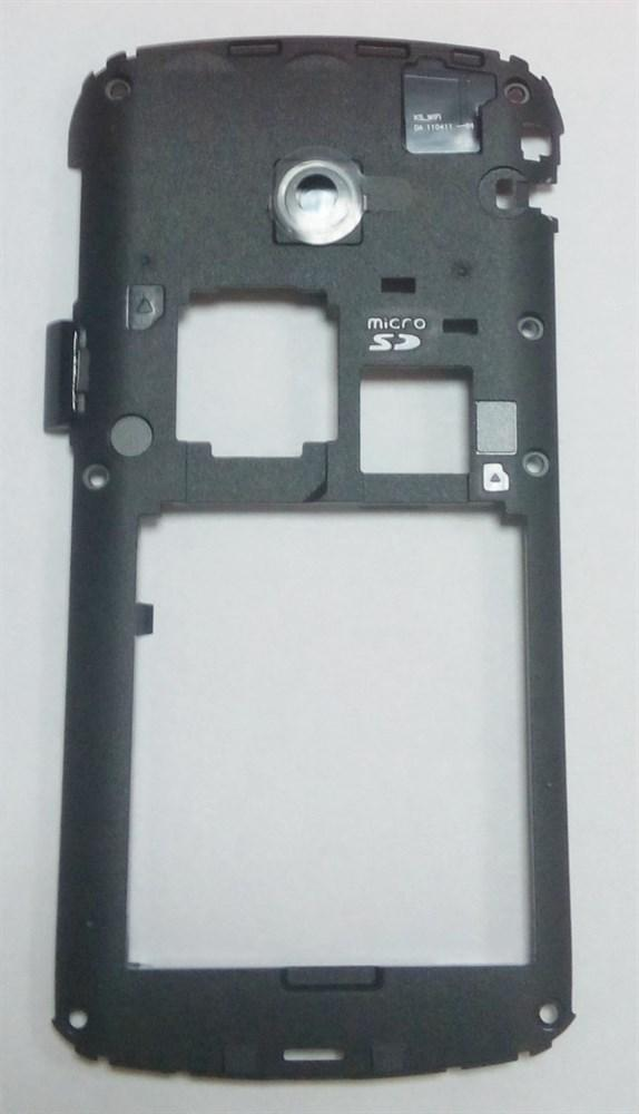 Панель средняя черная с заглушкой системного разъема для телефона Fly iq280 M011B009013