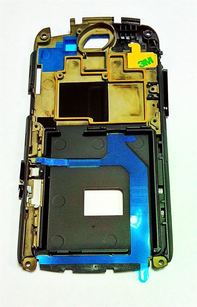 Средняя часть с боковыми кнопками черная для телефона Fly iq280 M301M009011