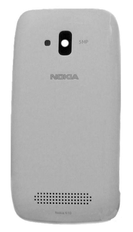 Крышка задняя батареи белая для телефона Nokia Lumia 610 8002588