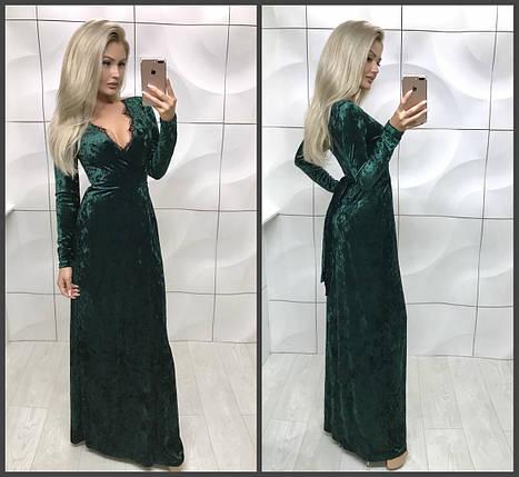 Вечернее платье с запахом в пол, Ментоловый, 46, фото 2