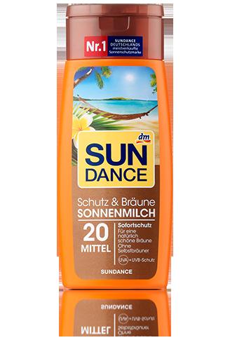 SunDance Schutz & Bräune Sonnenmilch LSF 20 Молочко для защиты кожи от солнца с эффектом легкого загара 200ml