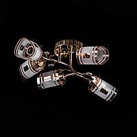 Люстра потолочная на 5 лампочек P3-7047DF/4+1/FG+BN