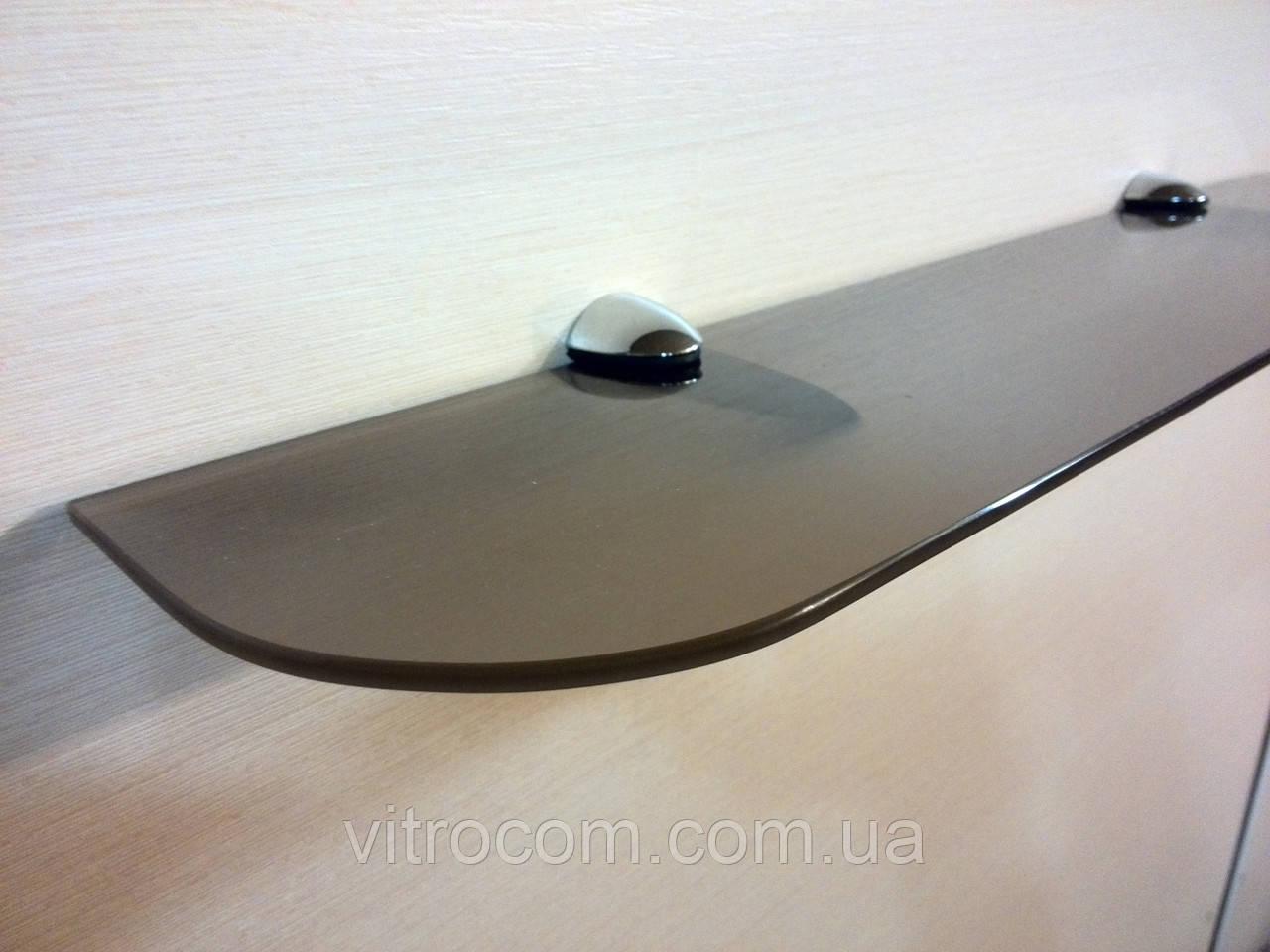 Полка стеклянная прямая 4 мм бронзовая матовая 50 х 15 см