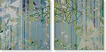 Репродукция модульной картины диптих «Тетраэдры»