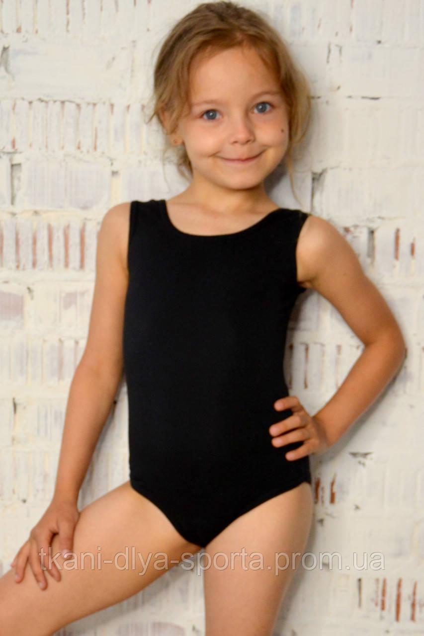 Купальник-майка для танцев и гимнастики черный