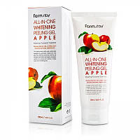 Пілінг-скатка з яблуком Farmstay All In One Whitening Peeling Gel Apple 180 мл