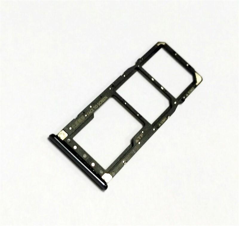 Держатель трей сим карты телефона Xiaomi Redmi 7 черный 340080900050